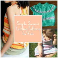 16 Simple Summer Knitting Patterns for Kids