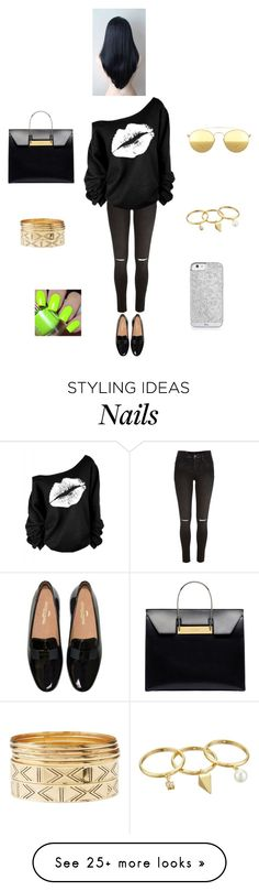 """""""K M N G"""" by queen-kaitlyn on Polyvore featuring River Island, Balenciaga, Mykita, Charlotte Russe and Rebecca Minkoff"""
