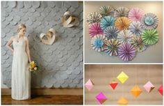 origami papierowe dekoracje na wesele