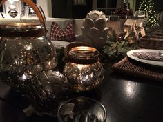 Tablesetting from my kitchen Instagram: camillashome Table Settings, Vase, Table Decorations, Kitchen, Christmas, Pictures, Furniture, Instagram, Home Decor