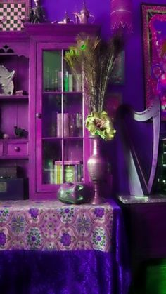 ~ purple boho  room ~