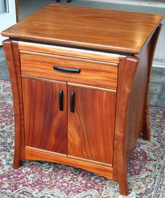 Kahn Bedside Table Material: African Mahogany