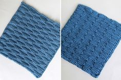 Wave Stitch (front & back), Square 8 of 10 for the Crochet Along Afghan Sampler on The Inspired Wren
