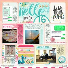 Digital Scrapbooking Layout with Just Jaimee by Stacia Hall - Storyteller Reed - Collection June 2015 by Just Jaimee; Custom Font