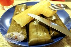"Cassava Suman Recipe, another Filipino native ""kakanin"" that is good for snacks, it is one of the older Filipino desserts and consists of grated coconut and cassava wrapped in banana leaves, it is sweet and chewy delicious."