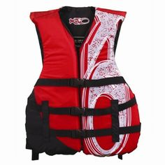 X20 Universal Adult Life Jacket Vest - . comfortable, and affordable, the 3-buckle, universal fit adult life vest from X20 is a good choice for active sports on the water. Great for waterskiing, boating, wakeboarding, jet skiing, or canoeing, the life vest boasts 3 fully adjustable straps for a perfect, secure fit with YKK fast click buckles for easy on and off. Thanks to UL approved materials and con...