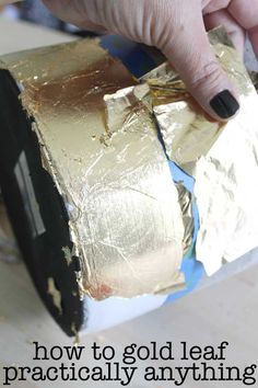 how to gold leaf almost anything