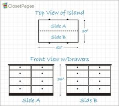 Custom Closet Island Design Example