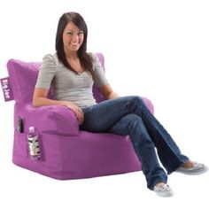 Big Joe Dorm Bean Bag Chair, Multiple Colors Bedroom Game Sports Room Lounge for sale online