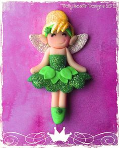 classic tinkerbell party favor, pendant, bow center, ornament