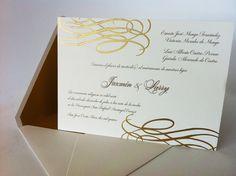 Preciosa invitación para bodas elegantes
