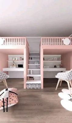 Small Room Design Bedroom, Cute Bedroom Decor, Kids Bedroom Designs, Room Ideas Bedroom, Home Room Design, Bedroom Loft, Home Interior Design, Unique Teen Bedrooms, Awesome Bedrooms