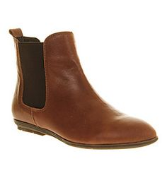 Office Unit Chelsea Tan Leather - Ankle Boots £62 Office