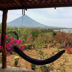 Hammock heaven. . . . . . #hammock #hammocklife #volcano #concepcion #ometepe #nicaragua #island #drought #elnino #volcan #isla #bouganvilla #getoutstayout #rei1440project #travelgram #wildernessculture #centralamerica by @lei_maile