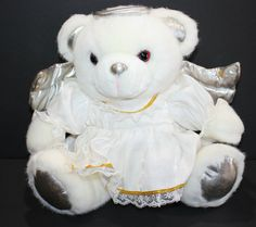 """JC Penney Angel Teddy Bear 24"""" Holiday Collection Christmas Plush Stuffed Animal #JCPenney #Christmas Holiday, Christmas, Plush, Teddy Bear, Angel, Toys, Animals, Ebay, Collection"""