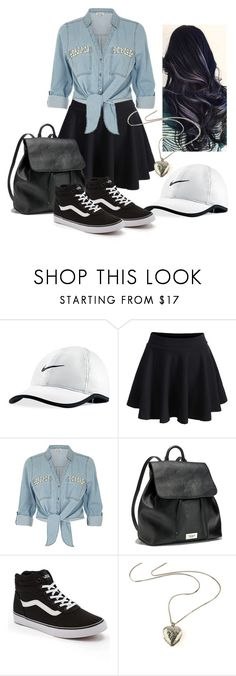 """""""Travel Outfit"""" by mochimchimus on Polyvore featuring NIKE, WithChic, ZAK, Victoria's Secret, Vans and country"""