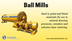 Ball Mills! Used to grind and blend materials for use in mineral dressing processes, ceramics and selective laser sintering.
