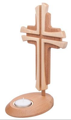 cross and candle Easy Woodworking Ideas, Woodworking Projects, Wooden Crafts, Diy And Crafts, Wooden Crosses, Cross Art, Small Wood Projects, Cross Crafts, Scroll Saw Patterns