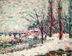 Henri Matisse - Winter Landscape on the Banks of the Seine (1904-1905)