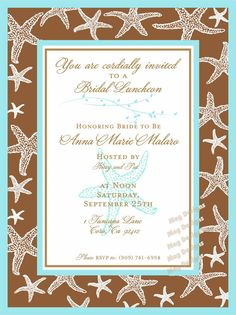 Diy kit custom rustic wedding program fans personalized do it beach wedding starfish bridal luncheon invitation customizable solutioingenieria Image collections