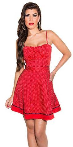 Kurze kleider schwarz rot