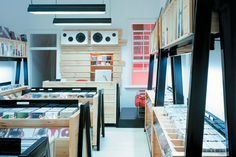 Mark Gowing for Title Books Film & Music, retail interior design