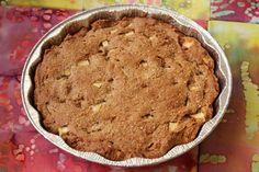 Gluten-Free Honey Apple Cake Recipe Desserts with coconut oil, honey, brown sugar, eggs, applesauce, vanilla, almond meal, brown rice flour, millet flour, teff flour, xanthan gum, baking powder, baking soda, salt, cinnamon, nutmeg, diced apples, sucanat