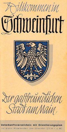 Faltblatt Schweinfurt 1950er - Schweinfurtführer