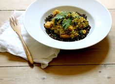 Rhubarb-Lentil-Sweet Potato Stew by My New Roots