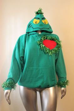 Grinch Christmas Sweater Grinchmas Womens and Mens by Gizmopurses