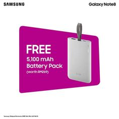 Receive a FREE battery pack worth RM269 when you purchase #myGalaxyNote8 at Pavilion KL's and Gurney Plaza, Penang roadshows now.  Hurry, offer valid while stock lasts!  More info: http://spr.ly/618582AnZ  *Gear VR + Screen Protection have been fully redeemed at the Pavilion KL and Gurney Plaza, Penang roadshows.