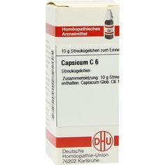 CAPSICUM C 6 Globuli:   Packungsinhalt: 10 g Globuli PZN: 07246709 Hersteller: DHU-Arzneimittel GmbH & Co. KG Preis: 5,50 EUR inkl. 19 %…