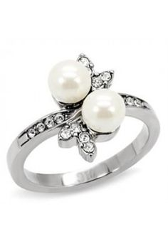 Stainless Steel Ring Women Synthetic White Pearl sizes 6 7 - Pearl Ring - Ideas of Pearl Ring - 0 The post Stainless Steel Ring Women Synthetic White Pearl sizes 6 7 appeared first on Awesome Jewelry. Rings For Girls, Wedding Rings For Women, Rings For Men, Wedding Bands, Best Engagement Rings, Designer Engagement Rings, Pearl Ring Design, Rose Gold Band Ring, Middle Finger Ring