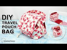 DIY TRAVEL POUCH BAG – sewingtimesblog Diy Travel Pouches, Makeup Storage Pouch, Diy Bags Patterns, Sewing Courses, Small Sewing Projects, Drawstring Pouch, Fabric Bags, Quilted Bag, Pouch Bag