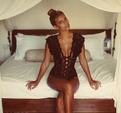 Natasha Oakley in the Grace Loves Lace bodysuit. The ultimate wedding night and Honeymoon essential X www.graceloveslace.com.au