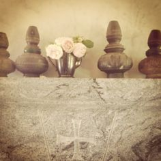 antique water pots from Laos.  eden rose.