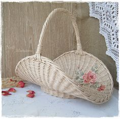 Basket with a decoupage