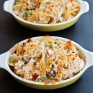 This retro casserole uses up leftover turkey in a tangle of egg noodles, button mushrooms and cheesy sauce—with delicious results. Baked in one pan, or divided into individual ramekins, it's… Leftovers Recipes, Turkey Recipes, Chicken Recipes, Dinner Recipes, Turkey Dishes, Dinner Ideas, Entree Recipes, Meal Ideas, Yummy Recipes