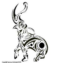 Retro elephant tattoo