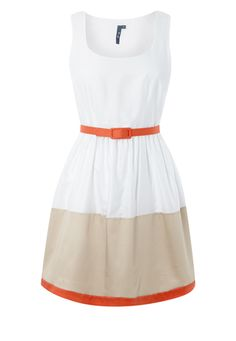 Someday when I lose weight I will look good in dresses...and I would wear this everyday.  £28.00 Peacocks, Ladies Colour Block Dress