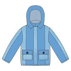 Детская ветровка. Выкройка.Выкройки детских полукомбинезонов, курток, комбинезонов и теплого трикотажа на популярные российские размеры