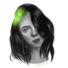 Billie Billie Eilish, Fan Art, Portrait, Illustration, Anime, Illustrations, Headshot Photography, Portrait Paintings, Cartoon Movies
