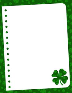 Free shamrock border templates including printable border paper and clip art versions. Vector images are also available. Page Borders Design, Border Design, Borders For Paper, Borders And Frames, Borders Free, Shamrock Clipart, Printable Border, School Border, Border Templates