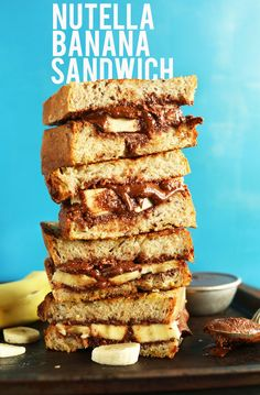 Nutella Banana Sandwich! Entirely #vegan, butter free and SO delicious! #minimalistbaker