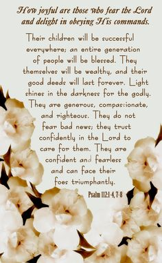 Psalm 112:1-4, 7-8