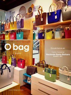 """Vísitanos para sorprenderte con todos los colores que tenemos para ti en nuestra """"O bag Store""""  Centro Comercial Hacienda Santa Bárbara (Local D - 207) Bogotá, Colombia  www.Obag.com.co"""