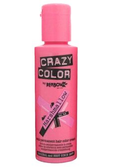 Crazy Color Marshmallo Hair Dye looks like the sweetest thing. Get yer fix of the fluffy stuff with this perfectly pigmented semi-permanent hair color in a pretty pastel pink hue that gradually washes out with every shampoo.