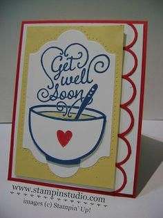 Stampin' Studio, Stampin' Up! Get Well Soup, Striped Scallop Thinlits, Lots of Labels Framelits,