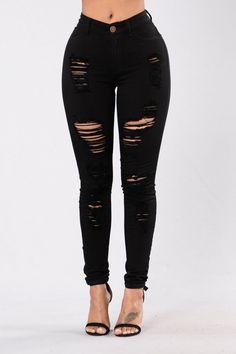 black ripped jeans Havin It Skinny Jean - Black Looks Com Jeans Skinny, Skinny Jeans Heels, Cute Ripped Jeans, Dark Skinny Jeans, Jeans With Heels, Black Ripped Jeans Outfit, Skinny Fit, Outfit Jeans, Sweater Outfits