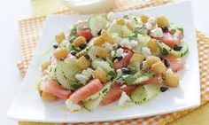Alimentazione Sana & Cucina Naturale: Insalata di anguria con feta, cetrioli e olive